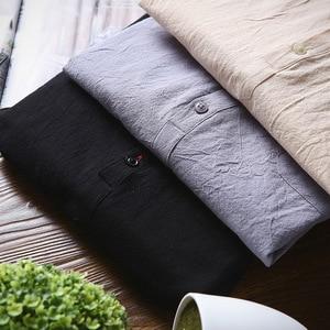 Image 4 - 2019 été marque Chemise hommes mode demi manches Chemise coton respirant Chemise hommes grande taille hawaïenne Chemise Homme