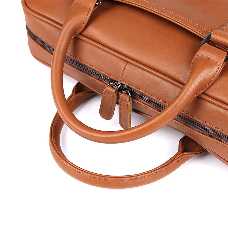 HTB1oi5CXcfrK1Rjy1Xdq6yemFXaF Nesitu Black Brown Genuine Leather Office Men Briefcase Messenger Bags Real Skin Business Travel Bag 14'' Laptop Portfolio M7349