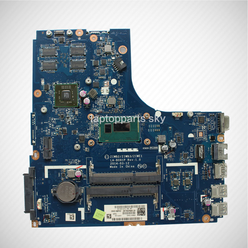 Original new For Lenovo B50-70 laptop motherboard ZIWB2/ZIWB3/ZIWE1 LA-B091P DDR3 with I3-4030 CPU mainboard brand new ziwb2 ziwb3 ziwe1 la b092p rev 1 0 for lenovo b50 70 laptop motherboard mainboard