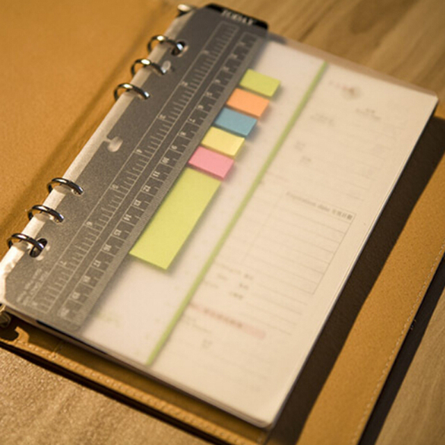 spiral notebook pvc receive bag storage card bag loose
