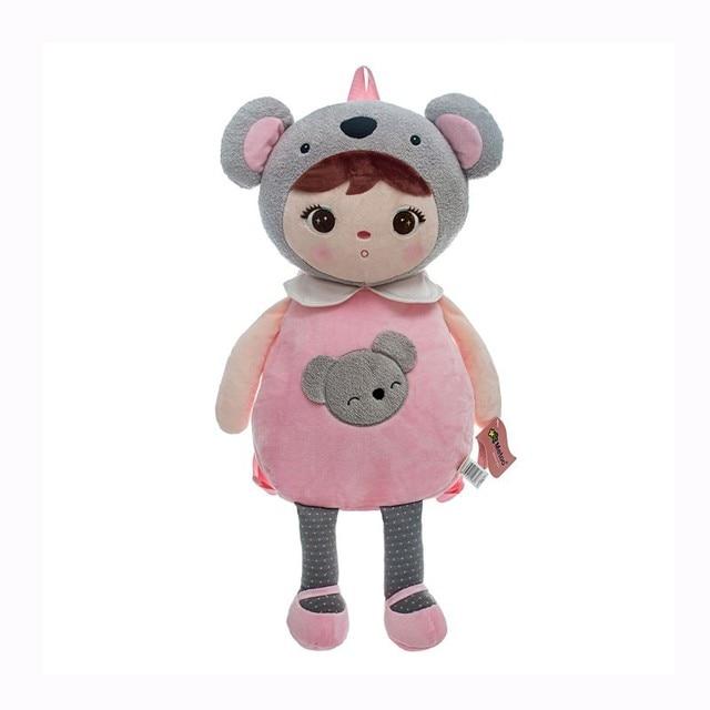 Nova Kawaii Bebê Crianças Dos Desenhos Animados do Luxuoso Sacos de Sacos de Escola Crianças Mochilas Meninas Encantadoras Panda Koala Adulto Toddles Bonito Metoo Brinquedos