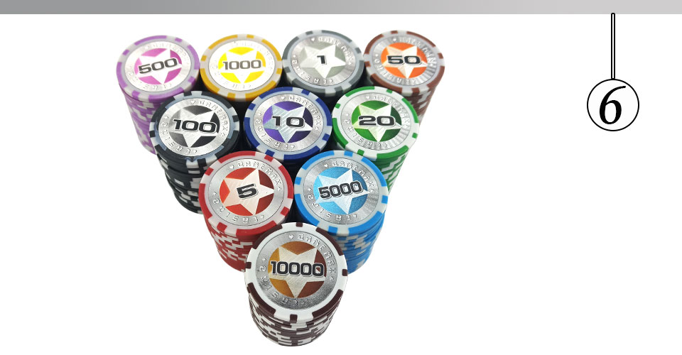 Easytoday 25Pcsset Plastic Poker Chips Set Clay Baccarat High Texas Hold'em Standard Entertainment Games Chips  (6)