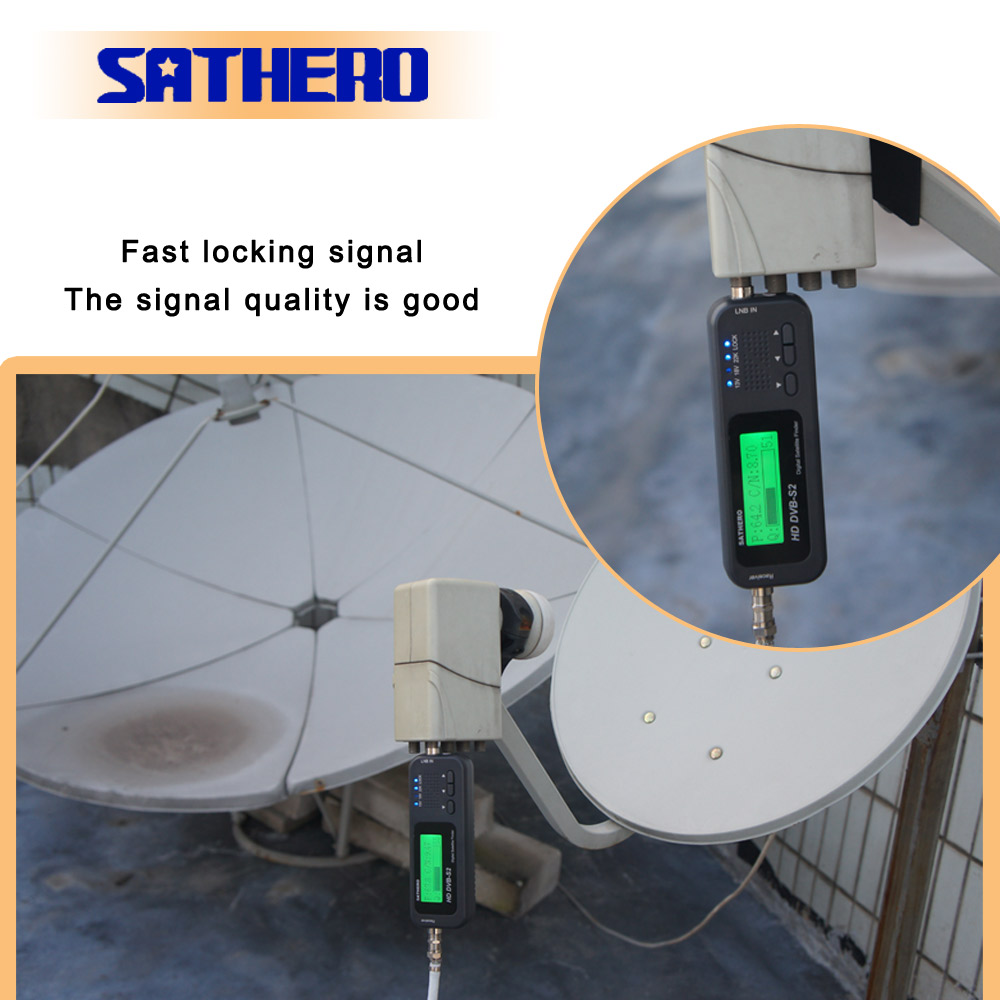 Sathero SH-100HD DVB-S2 High Definition Digital Satellite Finder  Portable Satelite Finder Meters Free Sat Programs