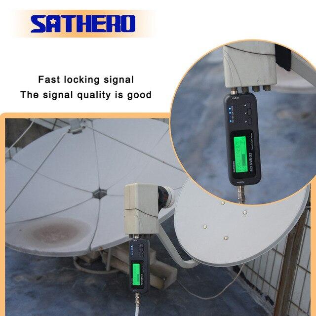 Sathero SH 100HD DVB S2 localizador de satélite digital, localizador de satélite digital de alta definição portátil, metros de gabinete grátis