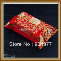 Rectangle Tissue Box Cover Pattern High Quality 100 Silk Fabric Tassel Craft 50pcs Pack Mix Free