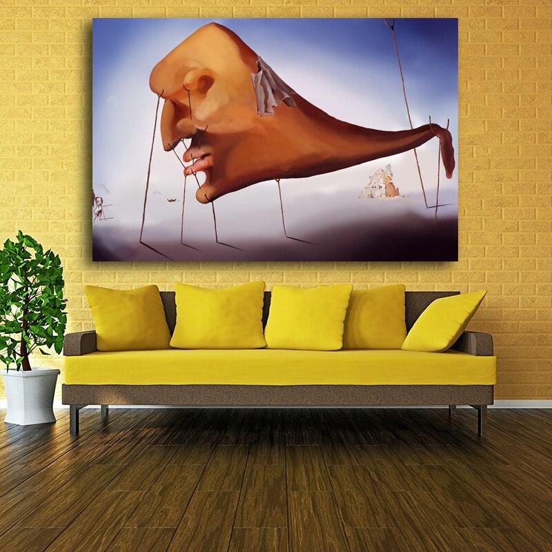 Abstract Painting Salvador Dali Surreal Artwork Vintage Art ...