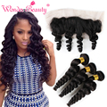 Cheap Peruvian Loose Wave Virgin Hair With 13x4 Ear To Ear Lace Frontal Closure Total 4pcs Fast And Free Shipping Via DHL Fedex