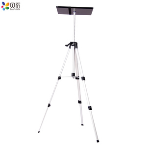 Image 4 - 500 1400mm Universal Projector Mount Tripod Stand Laptop Foor Stand Height Adjustable Bracket DVD Player Floor Holder with Tray