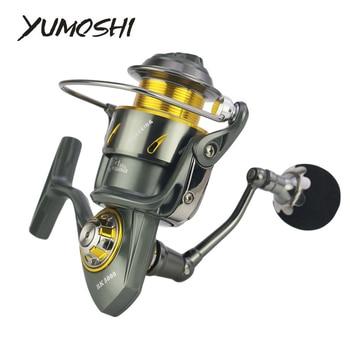 YUMOSHI Fishing Reel RK5000/6000/7000/8000/9000 Full Metal Carbon Brakes 5.3:1 Gear Ratio Anti Seawater 14BB No Gap Pesca