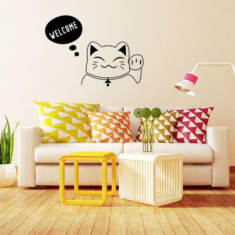 Cat home decor Cartoon sticker lovely kitchen pet store car decals for kids  room wall sticker A45. Kid Furniture Stores Promotion Shop for Promotional Kid Furniture