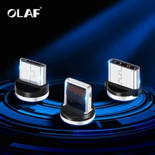 OLAF USB Magnetic Cable Plug ios Type c Miro usb Plug For iPhone Samsung Xiaomi Huawei Nokia LG Cord Plug Fast Charging Adapter cheap Blackberry Palm Apple iPhones panasonic SONY Motorola Reversible 2 in 1 3 in 1