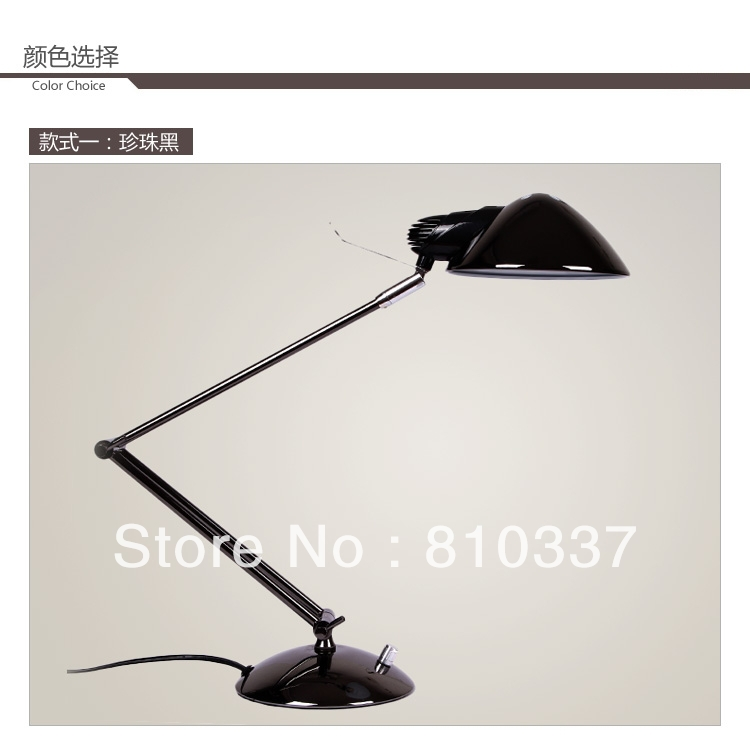 Fashion modern E27 Metel bedside black/silver study lamp wrought iron dimming lamps light lighting fixture free shipping FG814 new fashion modern e27 metel bedside black silver study lamp wrought iron dimming lamps light lighting fixture free shipping