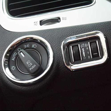 цена на ABS Chrome 2pcs Air Conditioning Vent &  Console Dashboard Switch Cover Trim fit for dodge journey fiat freemont 2011-2014