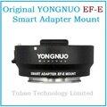 Nueva yongnuo inteligente adaptador ef-m montura e para can mark iii ef ef lente para sony nex adaptador inteligente para e-mount