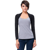 Long Sleeve Wedding Jackets Bolero Wrap Black Shrugs For Evening Party Women Dress Cardigan Outerwear Wedding