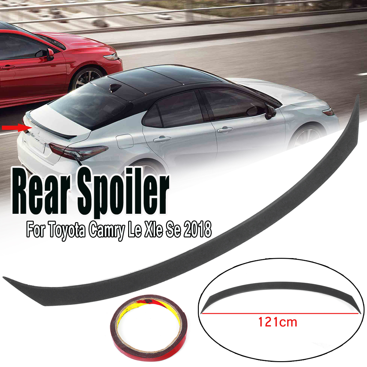 Car Rear Trunk Lid Spoiler Wing Hybrid Sport Style for Toyota Camry Le Xle  Se 2018 Car Styling Exterior Accessories-in Spoilers & Wings from  Automobiles ...