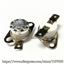 50/PCS KSD301 15A 250V 230 degrees 15A 230C Ceramic thermostat Normally Closed Temperature Switches fbt dj 15a