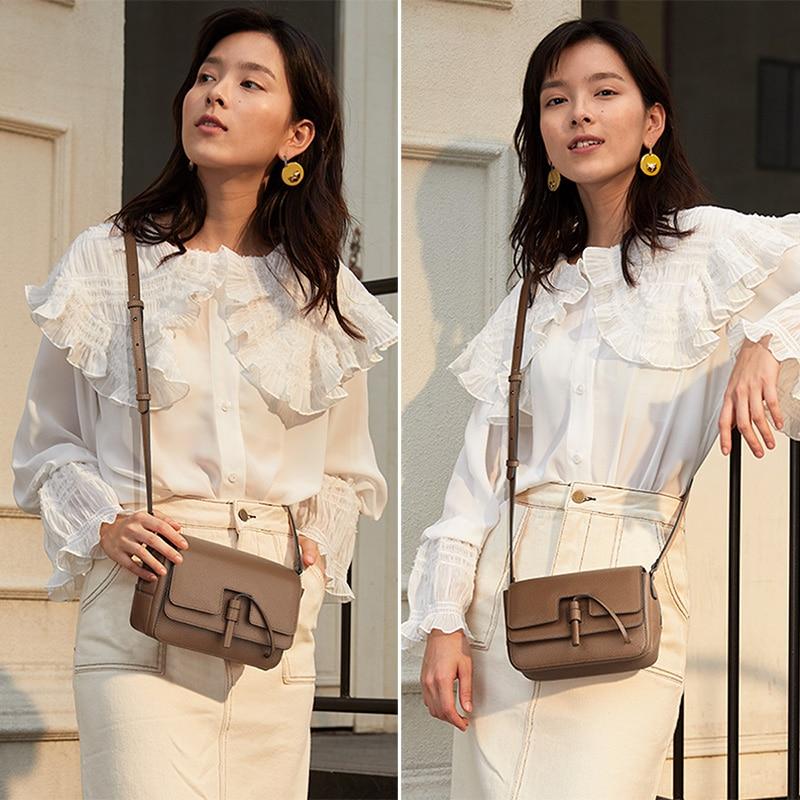 FOXER Marke frauen tasche Neue Mode Split Leder Umhängetasche Messenger Tasche für Frauen Weibliche Schulter Taschen-in Schultertaschen aus Gepäck & Taschen bei  Gruppe 3