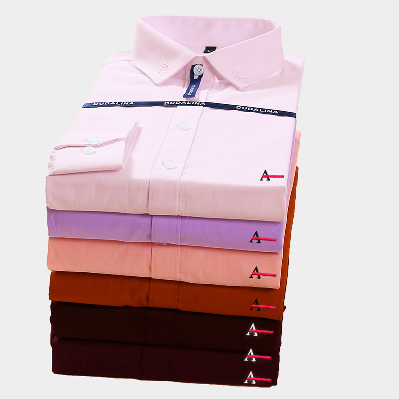 Aramis Sergio K Dudalina Men Shirt Camisa Social Masculina 2019 Men Shirt Embroidery Logo Long Sleeve Business Casual Shirts Men