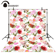 Allenjoy photo background Love hearts red flowers love letter pink romance Camera photography photography for photographing