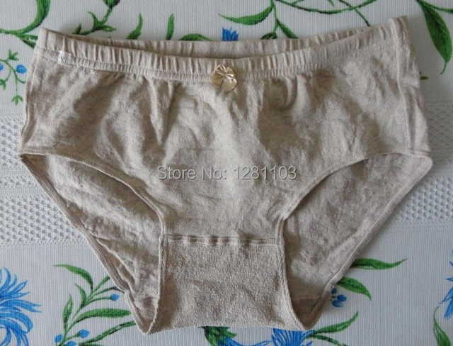 02b3f868e0ea08 Briefs Haerbin local specialty breathable house women's linen underwear  short Briefs pants linen flax design hollow pants thong