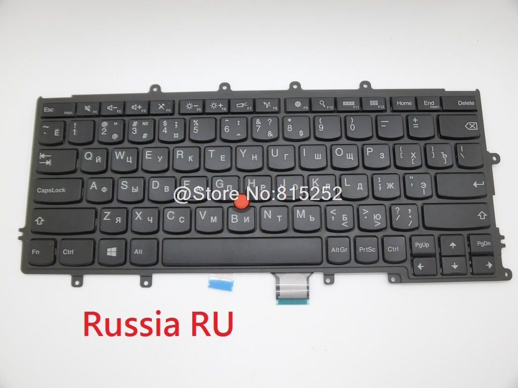 Laptop keyboard For lenovo For Thinkpad X240 X240S X230S Russia RU English US With Backlight Black New free shipping new russia white laptop keyboard for msi wind u130 u135 u135dx u160 u160dx ru white frame laptop keyboard