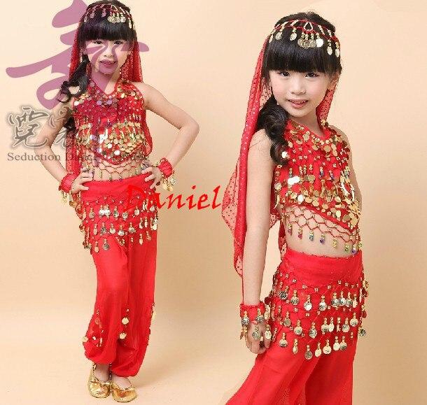 Bellydance Costume For Girls Kids Belly Dance Toppants Bollywood