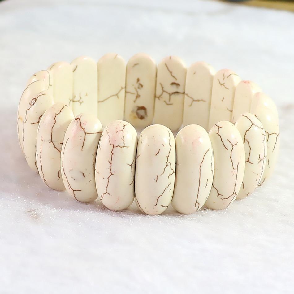 Baru putih calaite busana turquoises batu, 25 x 10 mm penjualan panas - Perhiasan fashion - Foto 5