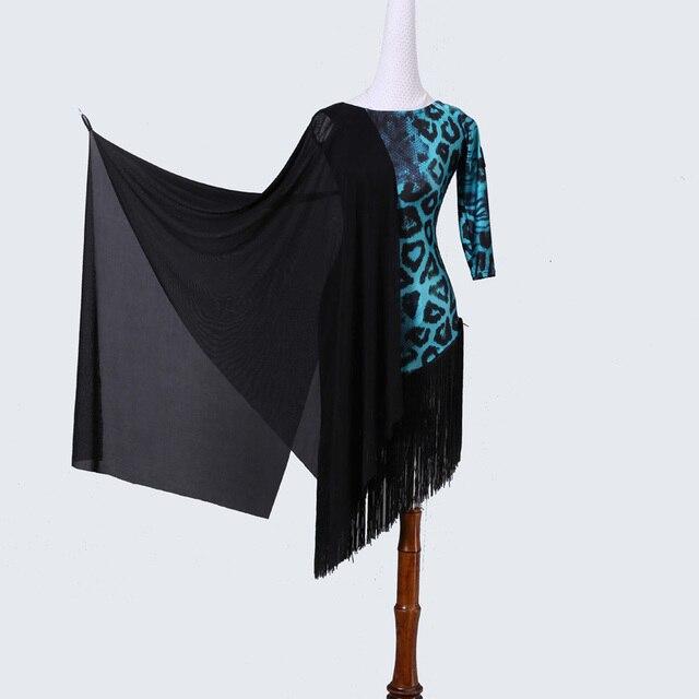 0668566be928 Leopard Latin Dance Dress Women Professional Latin Dress Samba Latin Salsa  Dresses Dance Costumes Clothes Dancing Dress