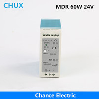 free shipping DIN Rail Industry Switching Power Supply MDR 60W 24V 2.5A SMPS for cnc cctv led light (MDR60W 24V)