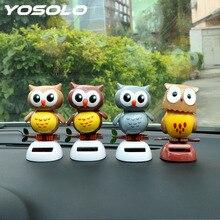 Solar Powered Cute Owl Birds Car Styling Dancing Shaking Head Car