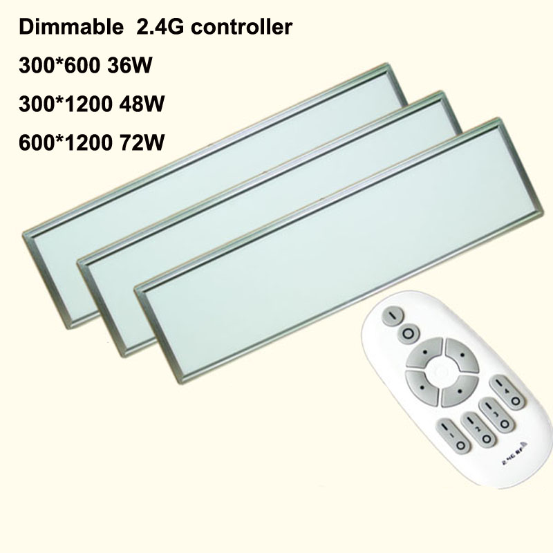 4pcs/lot 72W 600*1200MM 300*1200 300*600 Dimmable Led Panel Light AC85-265v Led Panel Lamp SMD2835 Office/Home/Hotel Lighting 1200 150mm 24w led panel light smd2835 school hospital super market workshop office home hotel meeting room lighting white