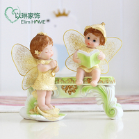 Creative swing lovely angel TV cabinet wine cabinet household porch swing girl friend gifts statues sculpture Home wedding