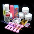 Newest Professional Acrylic Nail Kit 75ml Acrylic Liquid Glitter Powder Dust Nail Sets Brushes Cuticle Oil Nail Tools Set Kit