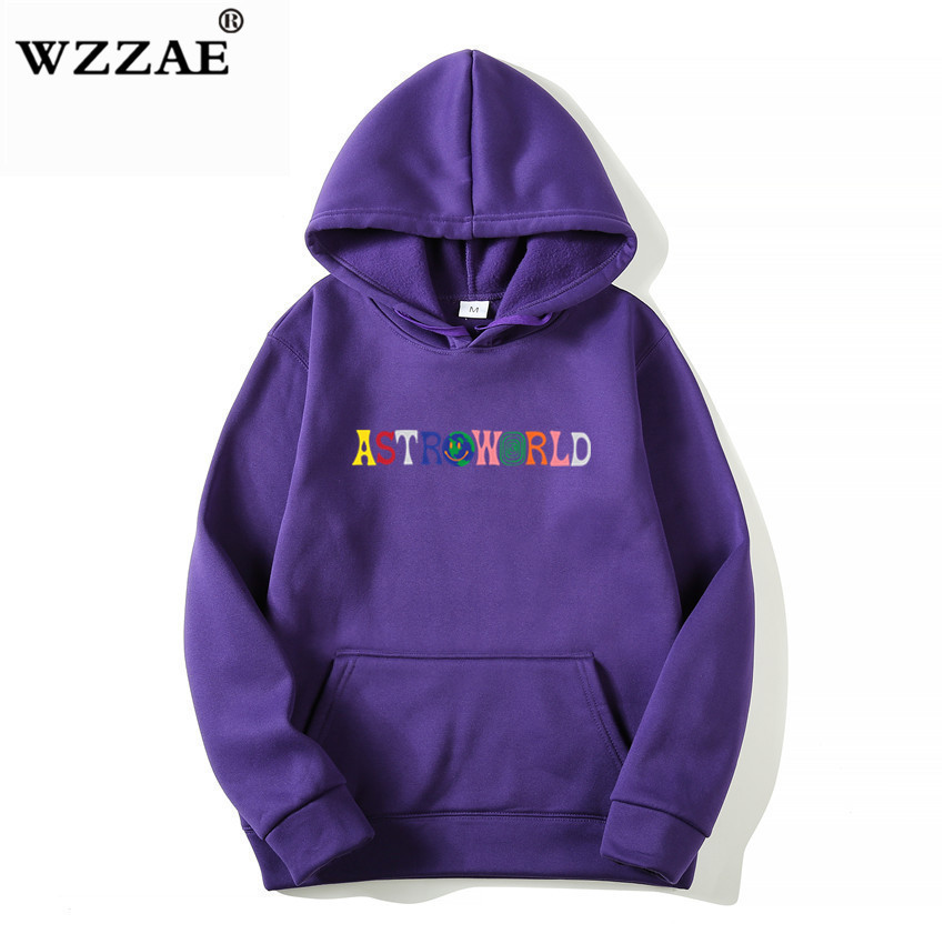 TRAVIS SCOTT ASTROWORLD WISH YOU WERE HERE HOODIES fashion letter ASTROWORLD HOODIE streetwear Man woman Pullover Sweatshirt 8