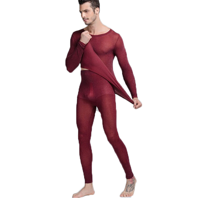 f5549ab4b5d3 2018 Winter Men's Thermal Underwear Sexy Transparent Elastic Long Johns Men  Soft Sleepwear Warm Trousers Pants Thermal Clothing