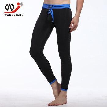 цена на WJ Hollow Gay Cargo Pants Man Qiuku Homewear Men Compression Pants Sexy Compression Tights Modal Gay Tights Brand Clothing