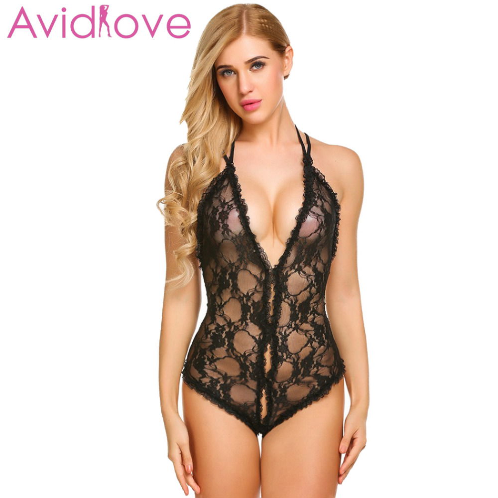 Avidlove Underwire Lingerie for Women Lace Teddy Bodysuit One Piece Babydoll,Ship from USA Warehouse