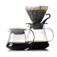 Verser sur la cafetière résistant à la chaleur borosilicate verre fait à la main café percolateur café filtre 400 ml/600 ml