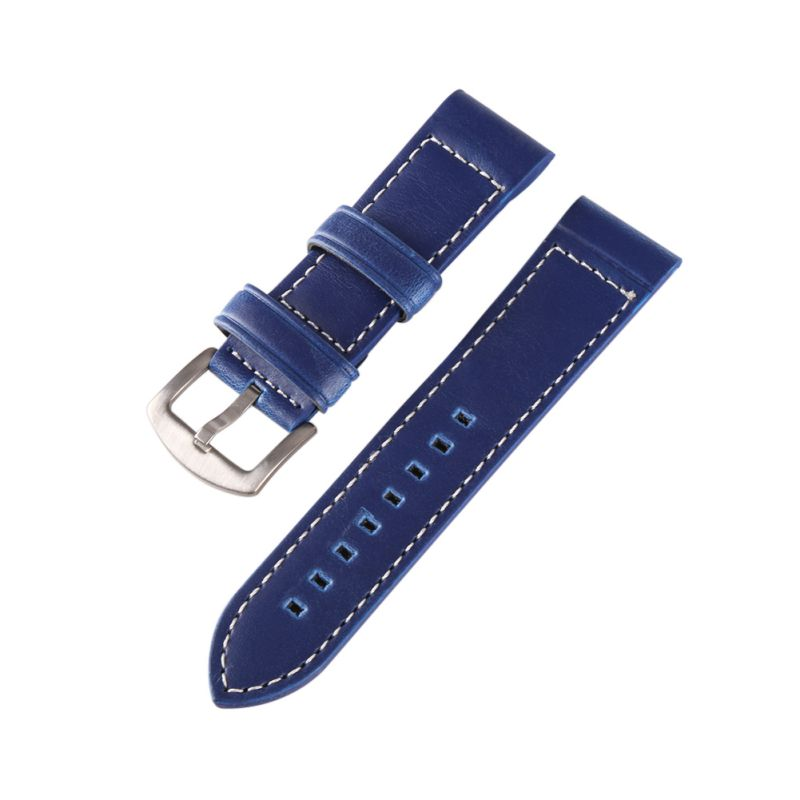 18MM 20MM 22MM 24MM Leather Horse Leather Watch Black Coffee Blue Band Watch Strap Man Watch Straps wholesale 10pcs lot 20mm 22mm 24mm 26mm genuine leather crazy horse leather watch band watch strap man watch straps black buckle