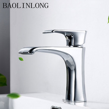 цена на BAOLINLONG Chrome Brass Bathroom Faucet Tap Vanity Vessel Deck Mount Sinks Mixer Waterfall Faucet