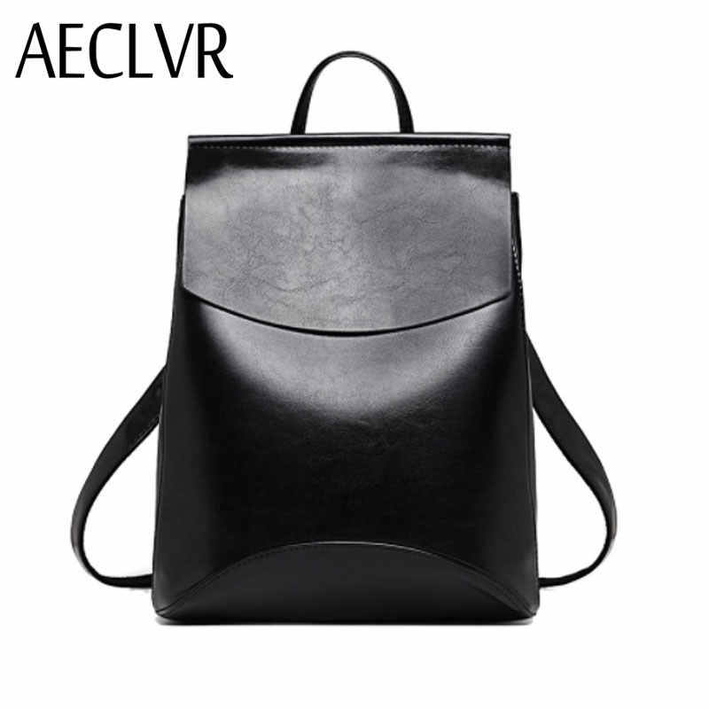 AECLVR Fashion Women Backpacks Quality Pu Leather School Backpacks for Teenage  Girls Preppy Style Shoulder Bag d1045be6aa96d