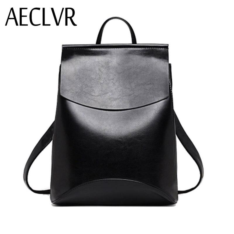 AECLVR Mode Frauen Rucksäcke Qualität Pu Leder Schule Rucksäcke für Teenager Mädchen Adrette Schulter Tasche Daypack für Frauen