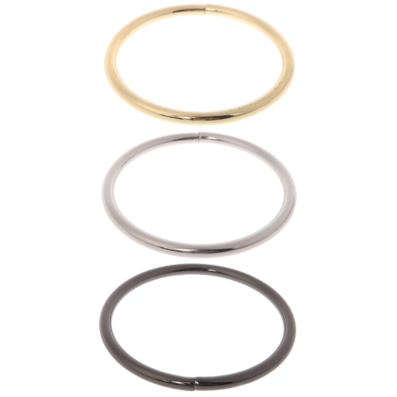 Metal O Ring Shaped Buckle For Bags Purses Backpack Straps Inner Diameter 7.5cm Bag Accessories 2018 Fashion