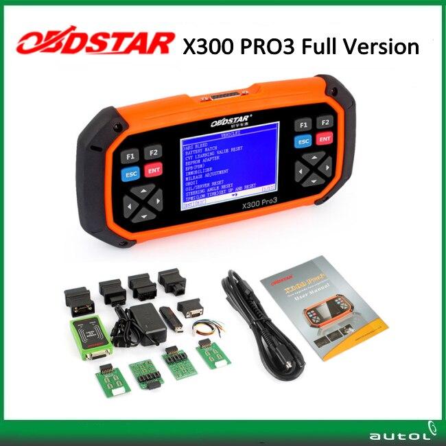 OBDSTAR X300 PRO3 Key Master Full Configuration immobiliser key programm Odometer adjustment EEPROM PIC OBDII EPB Oil reset master b 15 epb