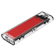 Orico Nvme M.2 To Type-C Ssd Enclosure Case M Key Transparent External Usb 3.1 Gen2 10Gbps Support Uasp For Up 2Tb