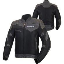 BENKIA Mesh Breathable Motorcycle Jacket Retro-style Chaqueta Moto Jacket Motorbike Motocross Jacket Riding Protective Gear