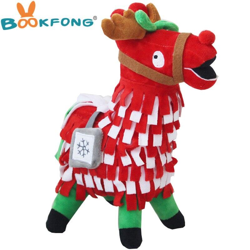 30 cm Navidad botín Troll alijo, oso de peluche de juguete figura de arco iris caballo de peluche muñeca juguetes regalos para los niños los niños