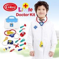 סט באיכות גבוהה צעצועי דוקטור סטטוסקופ רופא תיק רופא צעצוע מעבדת ילדים ערכת ערכה רפואית אחות רפואי לילדים צעצוע בית חולים תיק