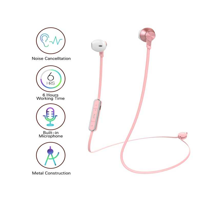 Mijiaer Headphone Nirkabel Auriculares Bluetooth Earphone Merah Muda Wireless Headphone untuk Xiaomi Headset Auriculares Inalambricos